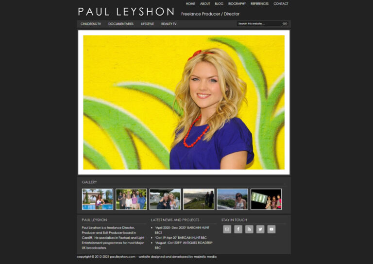 PL Website Screenshot